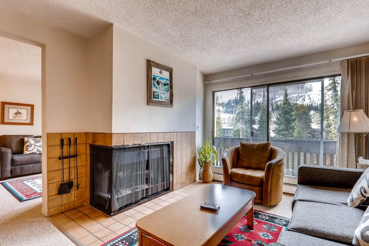 Spacious Condo on Gore Creek with views from Deck | Apollo Park A205