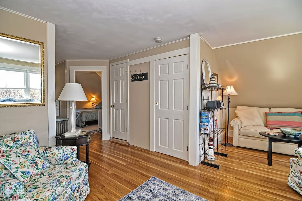 Helen's Way-There are multiple seating areas in the living room, including a