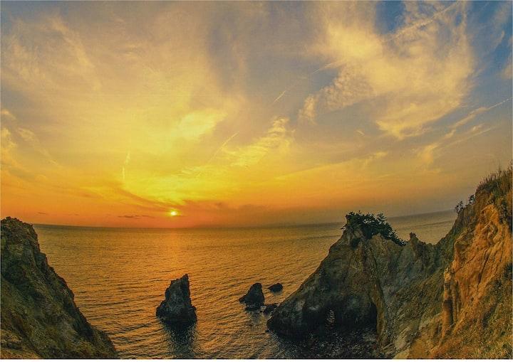 海まで3分 土肥の美しい夕日で、疲れを癒しに来ませんか?