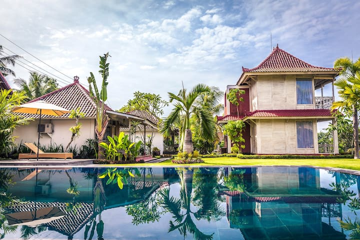 B.Saya Villa at Biu with Rice Field View #Ubud