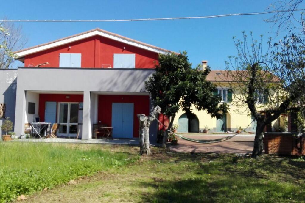 L'agriturismo - The farmhouse.
