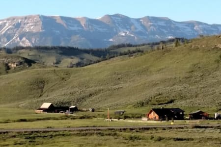 Majestic view of the Rockies - Marabrit Ranch B&B