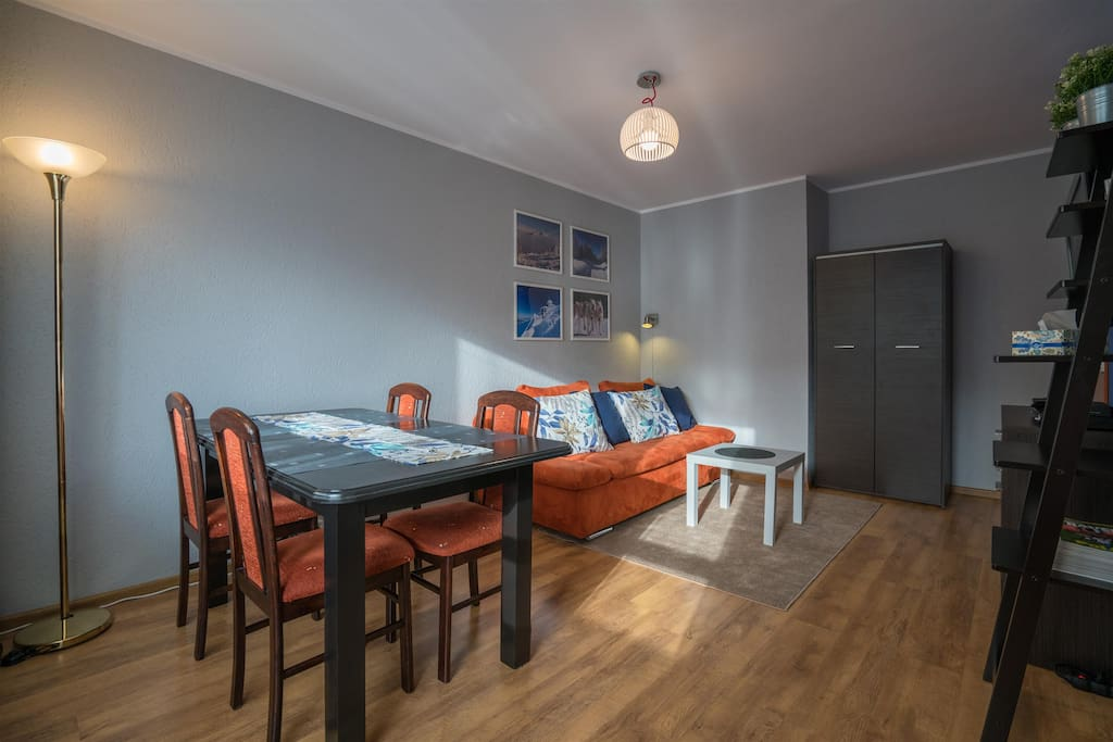 """Apartment Jola 3 - living room with comfty sofa for 2 person, tv lcd 37"""" with sat channels"""