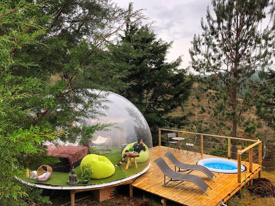 Burbuja ZEN rodeada de naturaleza