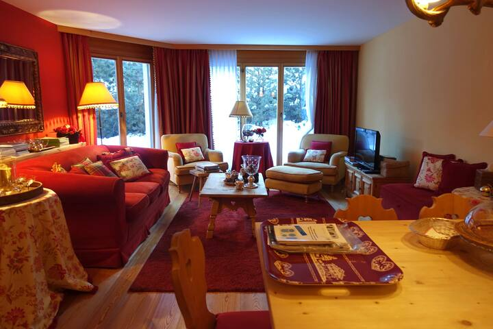Charming apartment close to St. Moritz