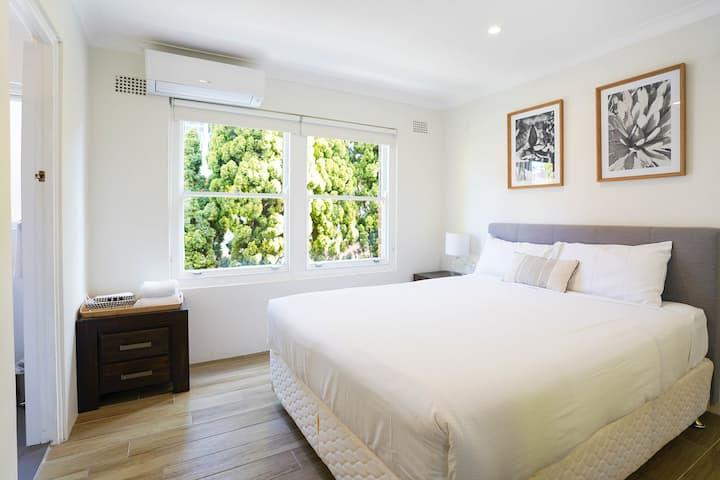 Modern one bedroom beachfront oasis