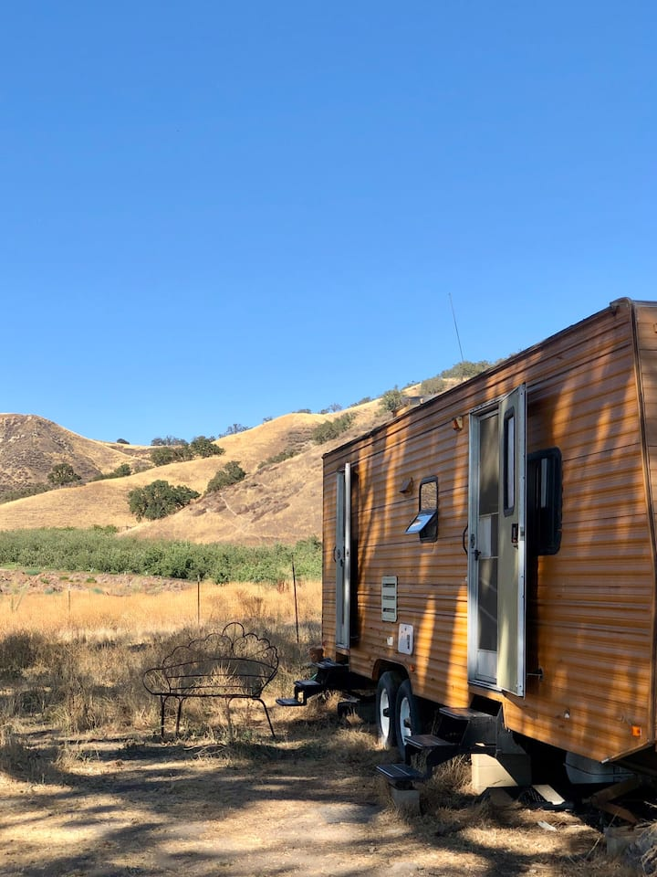 The Treehouse Trailer at Windrose Farm