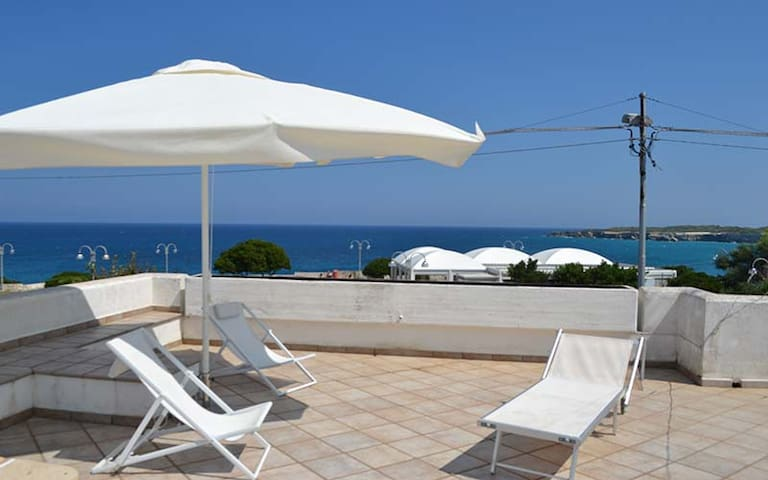 """Beautiful Holiday Apartment """"Trilocale con vista mare PT51"""" with Terrace & Sea View; Parking Available"""