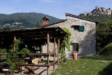 Charming stone farmhouse with fenced pool - Vellano - House