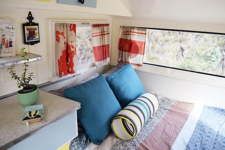 Cosy Caravan Double Bed