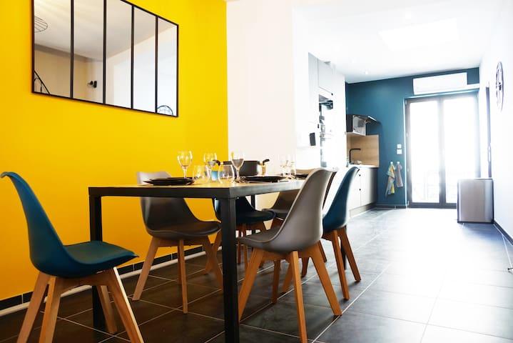 Gîte de 8P rénové luxe - clim - PS4 à 20' de Lille