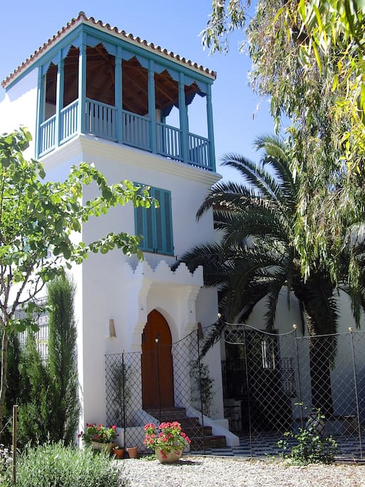 The design idea came from a tower in the Kasbah of Tangier