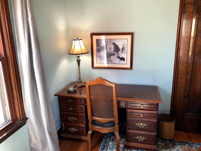 Desk space in main floor bedroom