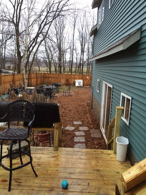Patio (trail behind fence)