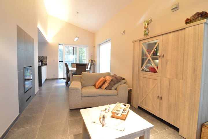 Modern holiday home in forested area with spacious garden, terrace and WiFi