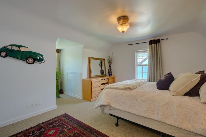 Each bedroom has plenty of room for a couple or a family of three.