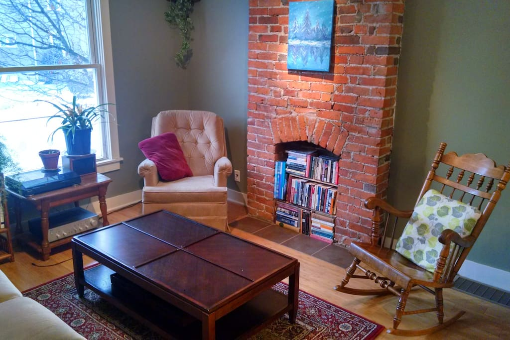 Another view of the lovely living room complete with a book library - take your pick!