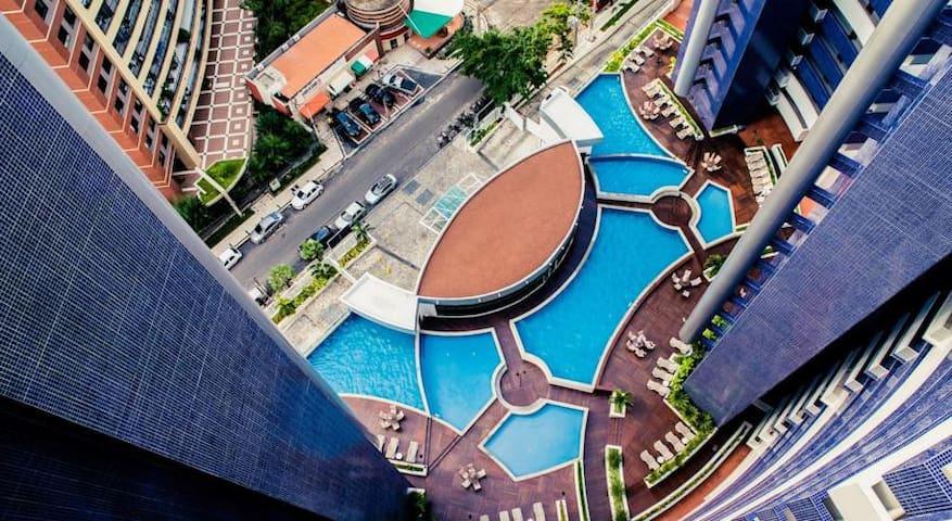 7 piscinas diponíveis