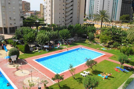 Acogedor, playa, jardines, parking