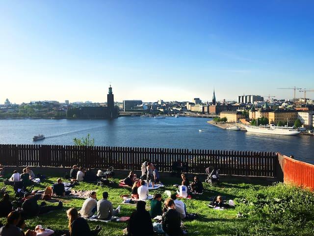 Chic Studio in Trendy Mariaberget, Södermalm - Stockholm - Lejlighed