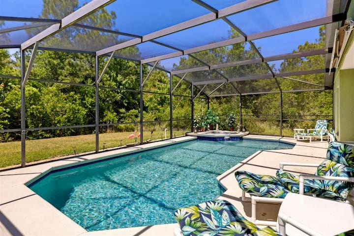 5 BD Sanitized Villa with Pool. 20 mins to Disney.