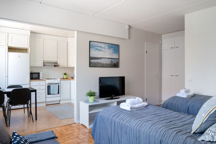 Studio Apartment with Kitchen and Parking