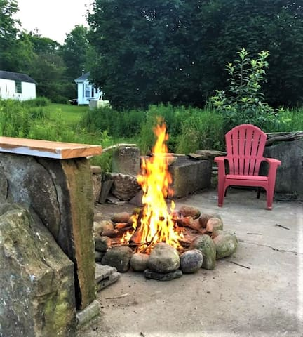 A lovely little place for your 'camp fire' out back on the old barn foundation!