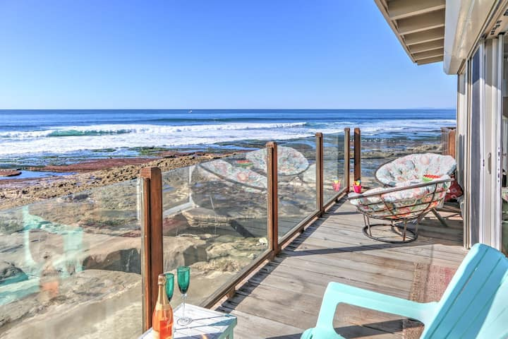 Beach Front Bungalow -right on the water in the Village of La Jolla.
