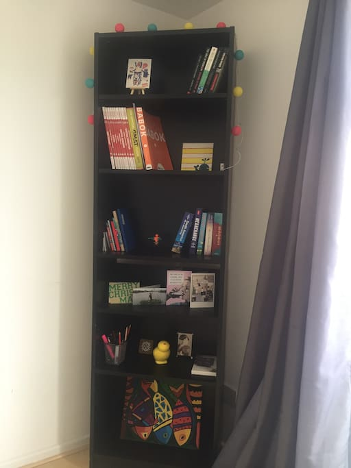 Bookshelf in living room