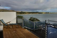 seaward deck facing toward the coast