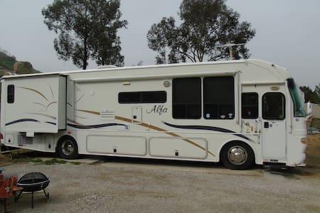 Alpha RV located on 20 acre private canyon site - Colton - Trailer