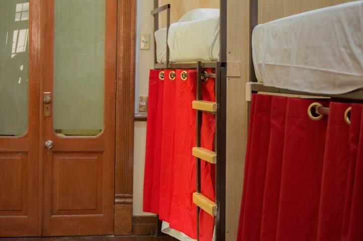 Litera en dormitorio compartido. Casa María Hostal