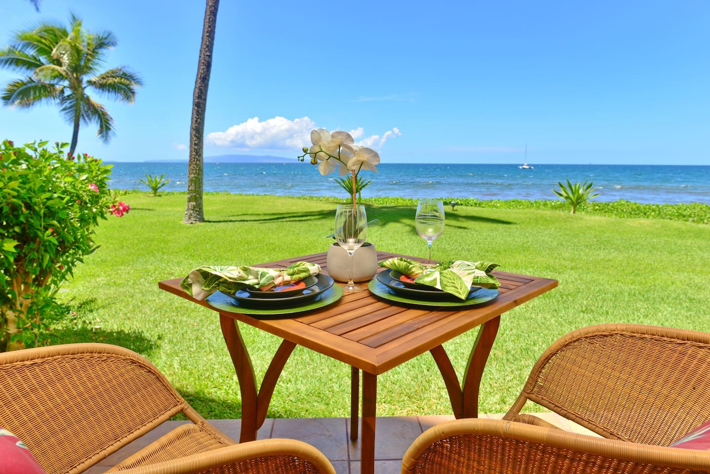 Dine with the sound of the waves at your doorstep!