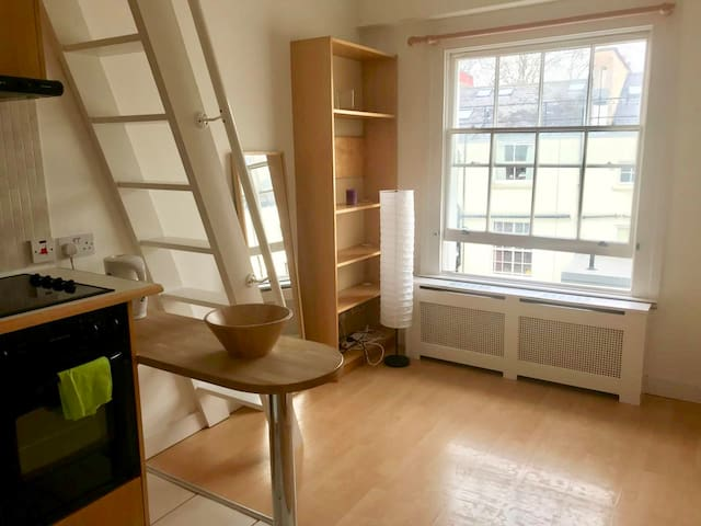 Nice Top Floor Spacious Studio Hyde Park L30