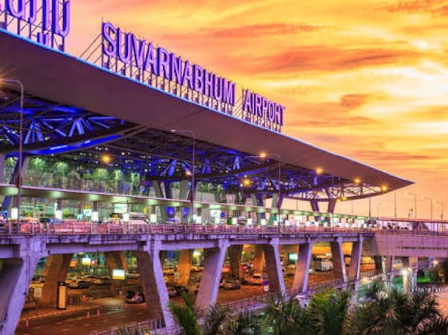★ Near Suvarnabhumi Airport (Bangkok Airport) only 10 Kilomates (10-15 Mins by car). ★ Free Pickup Service from Suvarnabhumi Airport / Train (Airport Rail Link) 24 Hrs. ★ Suitable for people who have the flight early in the morning at Suvarnabhumi Airport. You can take a rest at here before travelling.