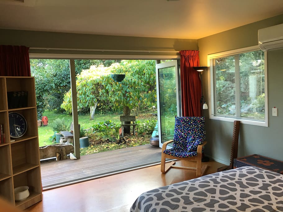 If you would like to sleep with the french bi-fold doors open you're more than welcome. Its a fabulous feeling waking to the birdsong.
