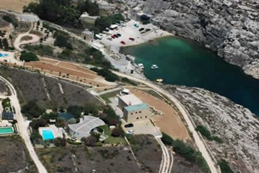 Mgarr ix -xini bay with a restaurant specialising in fish