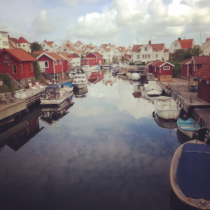 Grundsund is a beautiful old fishermans village, we love taking the boat through the canal to a restaurant or just around the bay