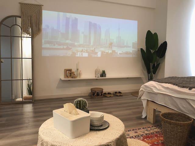<优间·白栖>紧贴王城快速路/近王城公园,摩洛哥风格/摄影民宿