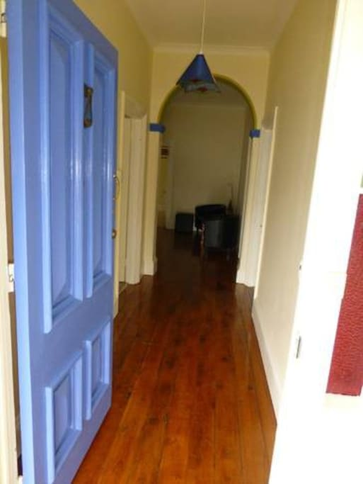 Front entry and hallway