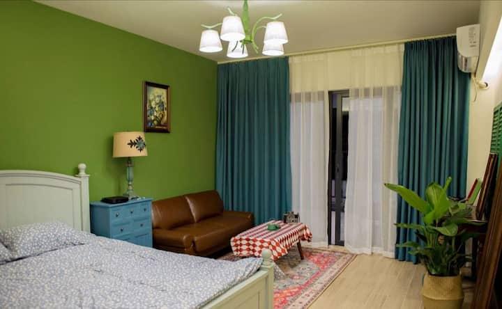 汕尾保利金町湾海边古风度假公寓(离沙滩约300米)