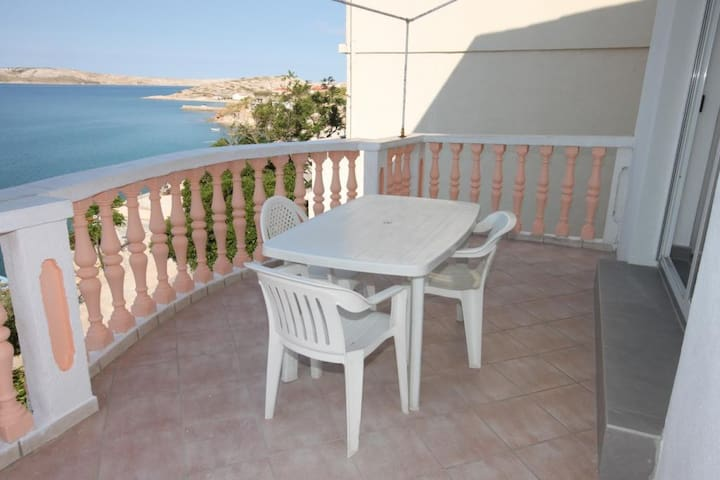 Two bedroom apartment with terrace and sea view Zubovići (Pag) (A-6394-a)