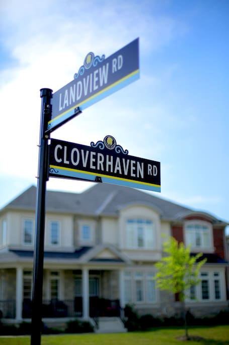 Corner house, located at the corner of Cloverhaven Rd & Landview Rd