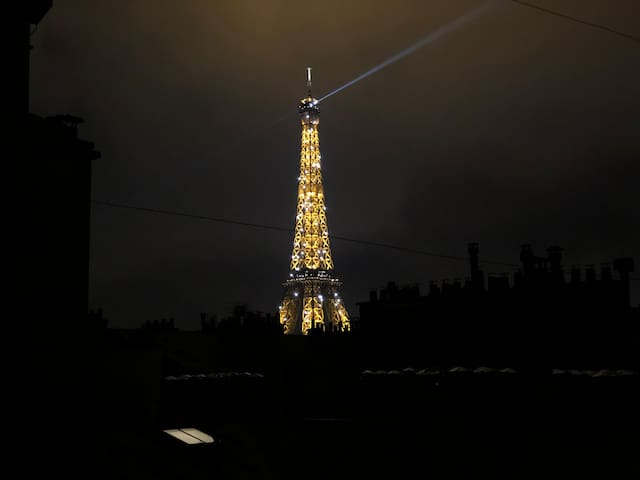 Lovely apartment - View on the Eiffel Tower