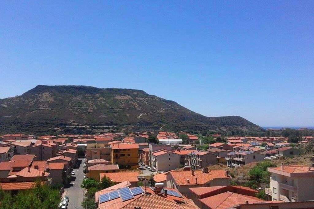 Vista dal terrazzino sulla valle del Temo.