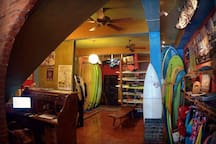 Surf shop on site.