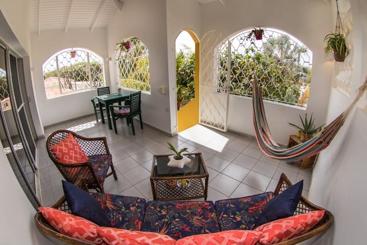 A view of the terrace.