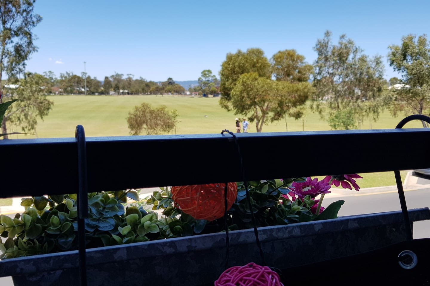 View towards city and Adelaide Hills from the balcony