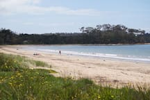 Looking Nth Up The Beach