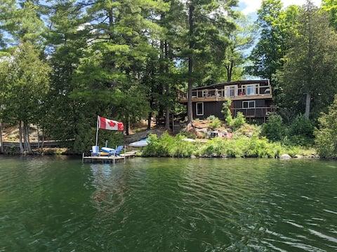 Waterfront retreat on Robertson Lake.